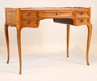 French Provincial Style Leather-Top Writing Desk