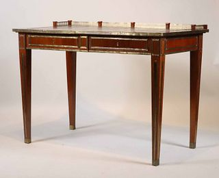 Louis XVI Style Leather-Inset Writing Desk