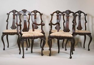 Six Louis Philippe Style Mahogany Dining Chairs