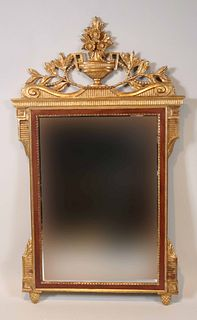 Neoclassical Style Parcel-Gilt Mahogany Mirror