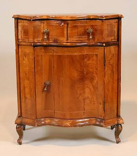 French Country Inlaid Walnut Diminutive Commode
