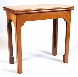 Inlaid Fruitwood Extension Games Table