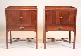 Pair of Baker Mahogany Bedside Tables