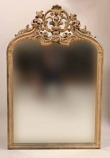 Louis XV Style Carved Fruitwood Scrollwork Mirror
