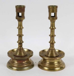 Pair of Brass Spanish Tradition Candlesticks