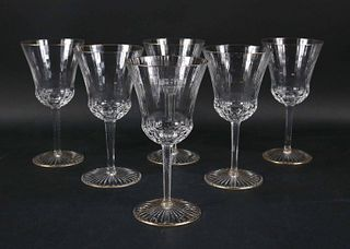 "Saint Louis Crystal Gold Rimmed ""Apollo"" Glasses"