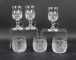 Six Waterford Lismore Irish Coffee Glasses