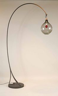 Modern Metal Floor Lamp, Of Impressive Size