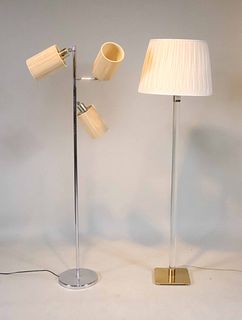 Two Modern Floor Lamps