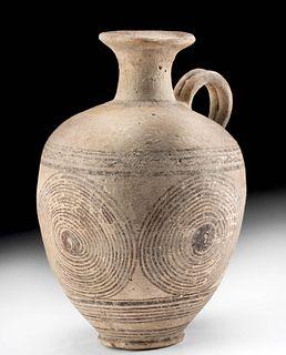 Greek Cypro-Geometric Bi-chrome Pottery Pitcher