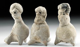 Greek Early Hellenistic Pottery Figural Whistles (3)