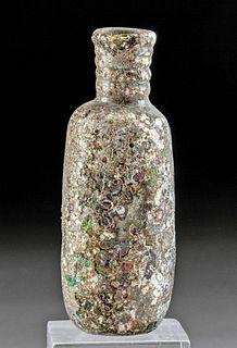 Stunning Roman Glass Jar - Gorgeous Iridescence