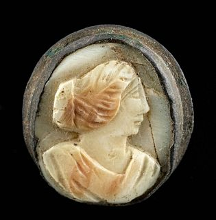 Roman Shell Cameo w/ Copper Setting