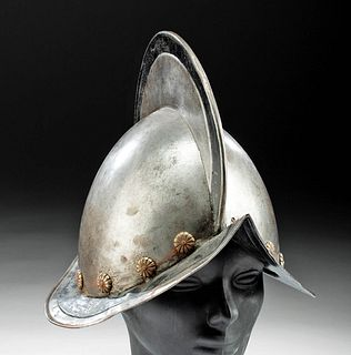 17th C. Dutch Steel Morion Helmet