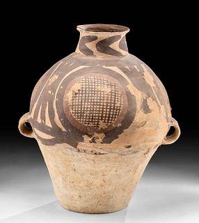 Chinese Neolithic Pottery Jar Geometric Motif