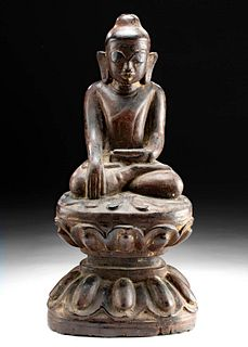 18th C. Thai / Cambodian Gilded Wood Buddha