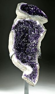 Large / Stunning Bolivian Amethyst Geode Section