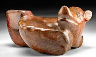 Colima Redware Puppy - Cute Curled Up Pose