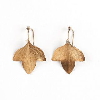H. Stern 18K Gold Leaf Shaped Earrings
