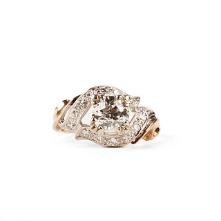 14K White & Yellow Gold Diamond Ring