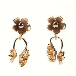 Gold-Filled Floral Earrings