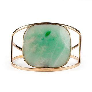 14K Gold & Chinese Jade Bracelet