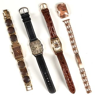 Grp: Vintage Bulova Benrus Elgin Illinois Watches