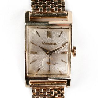 Longines 14K Yellow Gold Tank Watch