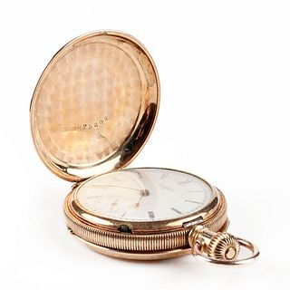 Elgin 14K Gold Full Hunter Pocket Watch