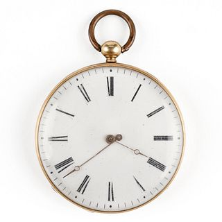 14K Gold Open Face Pocket Watch