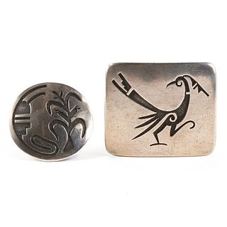 Hopi Silvercraft Cooperative Guild Pin & Buckle