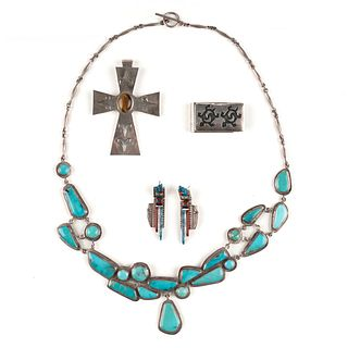 Grp: Southwest Native American Silver Jewelry