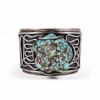 H. Fred Skaggs Turquoise Nodule Cuff Bracelet