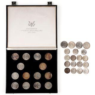Grp: 33 American Coins - Dollar - Half Dollar