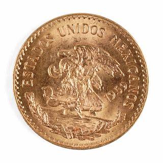 1959 Mexican 20 Pesos Gold Coin Oro Puro