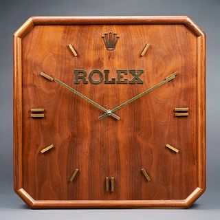 Vintage Rolex Wooden Wall Clock