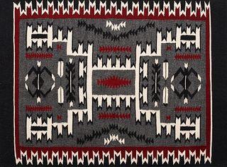 Storm Pattern Navajo Rug