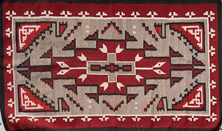 20th C. Navajo Storm Pattern Rug