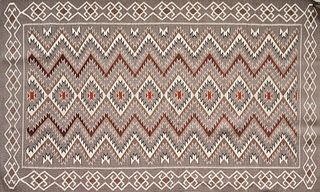 Gray Navajo Blanket Rug Red Mesa