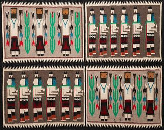 Navajo Yei Pictorial Rug Weaving