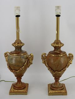 A Vintage And Quality Pair Of Bronze Mounted