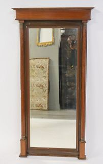 Empire Mahogany Pier Mirror With Columns