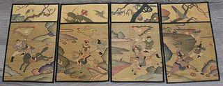 (4) Chinese Kesi Tapestry Panels.