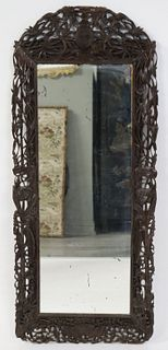 Antique Asian Finely & Highly Carved Mirror.