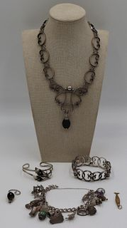 JEWELRY. Assorted Grouping of Sterling Jewelry.