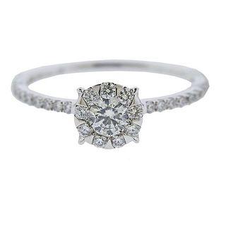 Memoire Gold 0.75ctw Diamond Engagement Ring