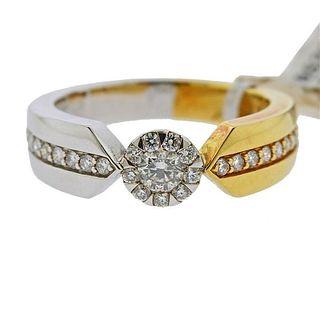 Memoire 18k Gold 0.55ctw Diamond Ring