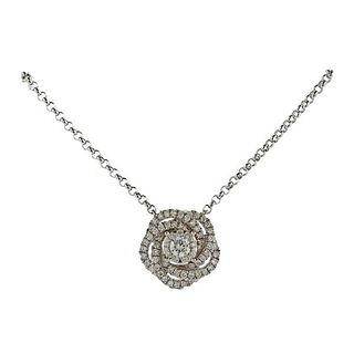 Memoire 18k Gold Diamond Pendant Necklace