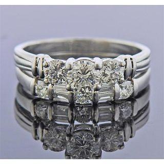 Platinum Diamond Engagement Wedding Ring Set