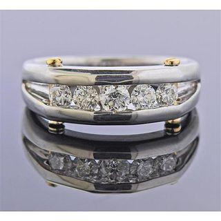 18K 14K Gold Diamond Wedding Half Band Ring